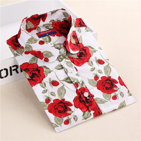 2020 Plus Size S-5XL Womens Long Sleeve Turn-Down Collar Cotton Shirts Fashion Yellow Floral Femme Blusas Tops Office Shirts New