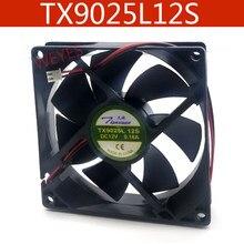 Original TX9025L12S 12V 0.16A 9 CENTÍMETROS 9025 ventilador de radiação 9cm