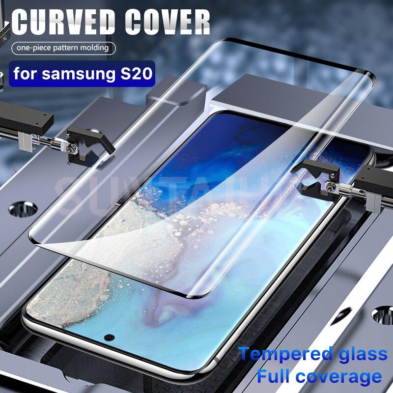 3D Pieno Della Copertura di Vetro Temperato Per Samsung Galaxy S20 S10 Più S20e Pellicola Della Protezione Dello Schermo Per La Nota 10 9 S8 s9 S10 Vetro di Protezione