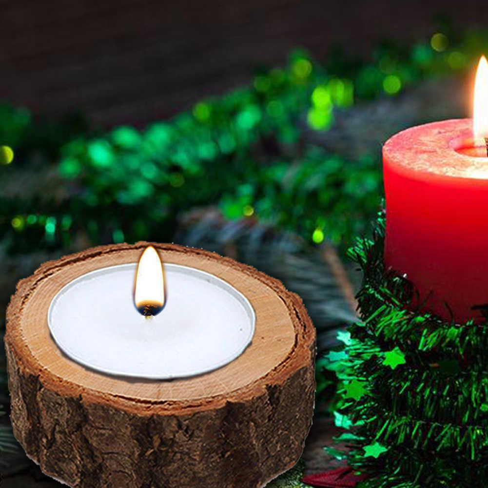 ไม้ Pile Bark Stand แผนภูมิแท่งเทียน Wick ตกแต่ง Succulent พืชดอกไม้ Home Decor ตกแต่งเทียนอุปกรณ์เสริม 2019 ใหม่