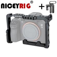 NICEYRIG DSLR Halter Kamera Käfig für Sony A7MIII a7m3 A7RIII a7r3 A7RII a7r2 A7SII a7s2 A7II A7S A7R A7 dslr rig Schiene Kamera Rig