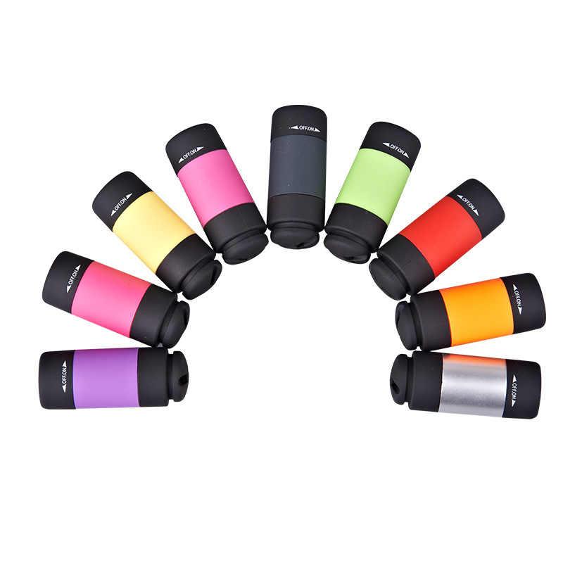 سوبر مصباح ليد صغير 0.3 واط 25Lum مصباح يدوي محمول USB في الهواء الطلق مقاوم للماء قابلة للشحن مصباح سلسلة مفاتيح أضواء مصباح متعدد الألوان