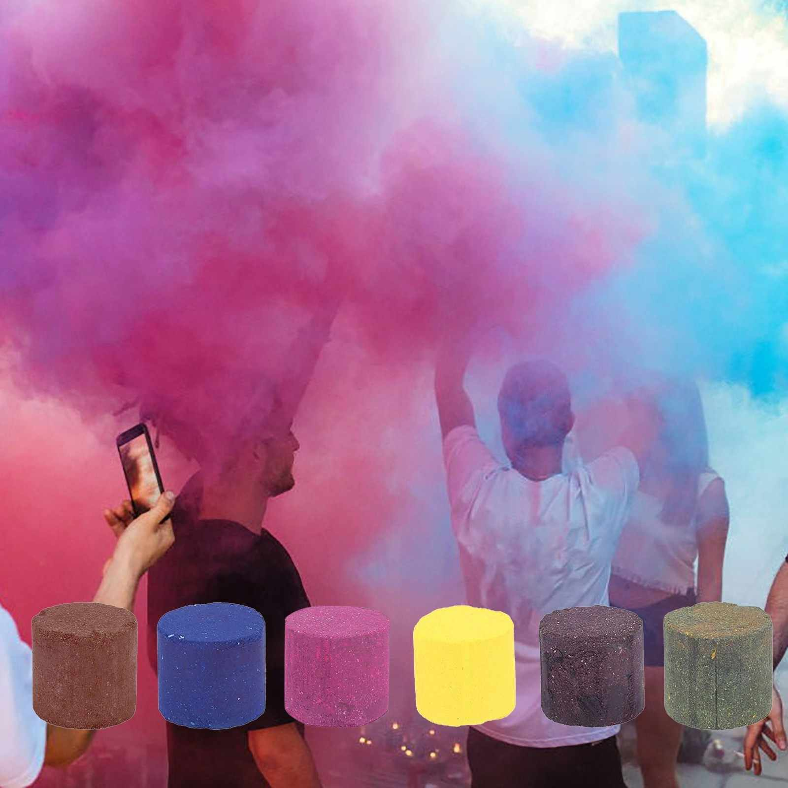 Color effect smoke bomb color photography background colored chalk dust color smoke cake Christmas party event decoration background photo video shooting studio props photography toy wedding