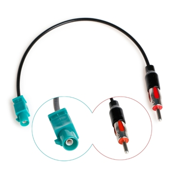 1 Pc Car Truck Player Stereo Antenna Adapter Male Aerial Plug Radio Converter Cable superbat car digital radio aerial converter dab dab fm am rast ii to fakra z cable adapter for alpine european car radio stereo