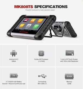 Image 2 - Autel MaxiCOM MK808TS OBD2 Bluetooth Scanner Car Diagnostic Tool OBD 2 Code Reader Programing TPMS Sensor PK DS808 MK808 TS608