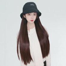 Mumupi короткие шляпа наращивание волос парик cap и хлопковой