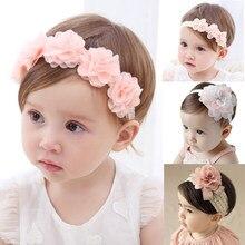 Serre-tête floral à nœud pour petite fille, headband pour enfant, accessoires cheveux nouveaux-nés, turban