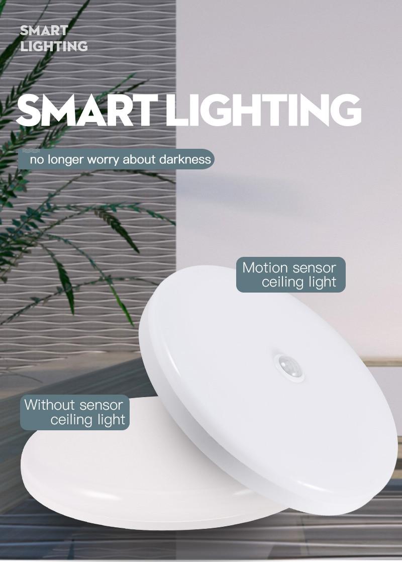 H744934c0b1d640bda1a6ceea6c5c2f23u Led Ceiling Light Motion Sensor Ceiling Lamp 220V LED Round Lamps Kitchen Lamp Surface Night Lights For Indoor Lighting