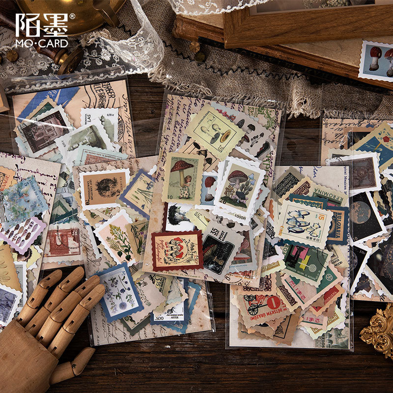 Mo Mo Stamp Sticker Package Stamp Collecting Museum Series Botany Hand Account Diy Decoration Pictures On Match Box 6 Selected