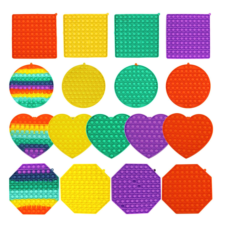 BIG SIZE Popsits Fidget Toys BIG SIZE Square Antistress Toy Push Bubble Figet Sensory Squishy Jouet Pour Autiste For Adult