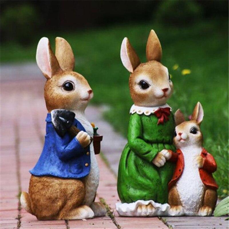 Estatua de jardín con Animal de imitación, bonito Conejo, escultura decorativa, paisaje de exterior, dibujos creativos de resina, regalo para el salón A1821 Invernadero pequeño para jardín, cobertizo para jardín, invernadero de exterior para jardín, aislamiento doméstico, invernadero de 3 tamaños
