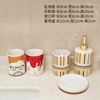 European style bathroom five piece ceramic toothbrush holder mouth cup bathroom decoration toiletries set new wedding items