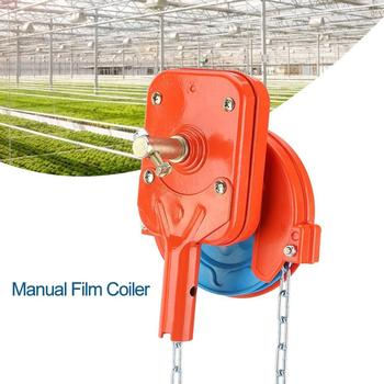 Speed Ratio 4:1 Manual Film Coiler Device Agricultural Greenhouse Side Top Film Coiling Rolling Blinds Machines