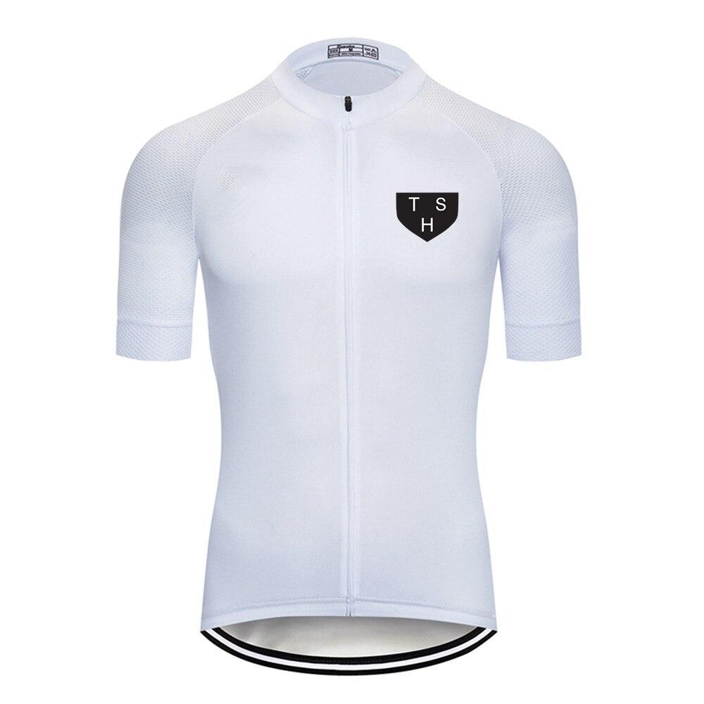THS Summer Mens Cycling Jersey Short Sleeve Downhill Road Bike Jersey MTB Pro Bicycle Cycling Shirt camisa Ciclismo Clothing