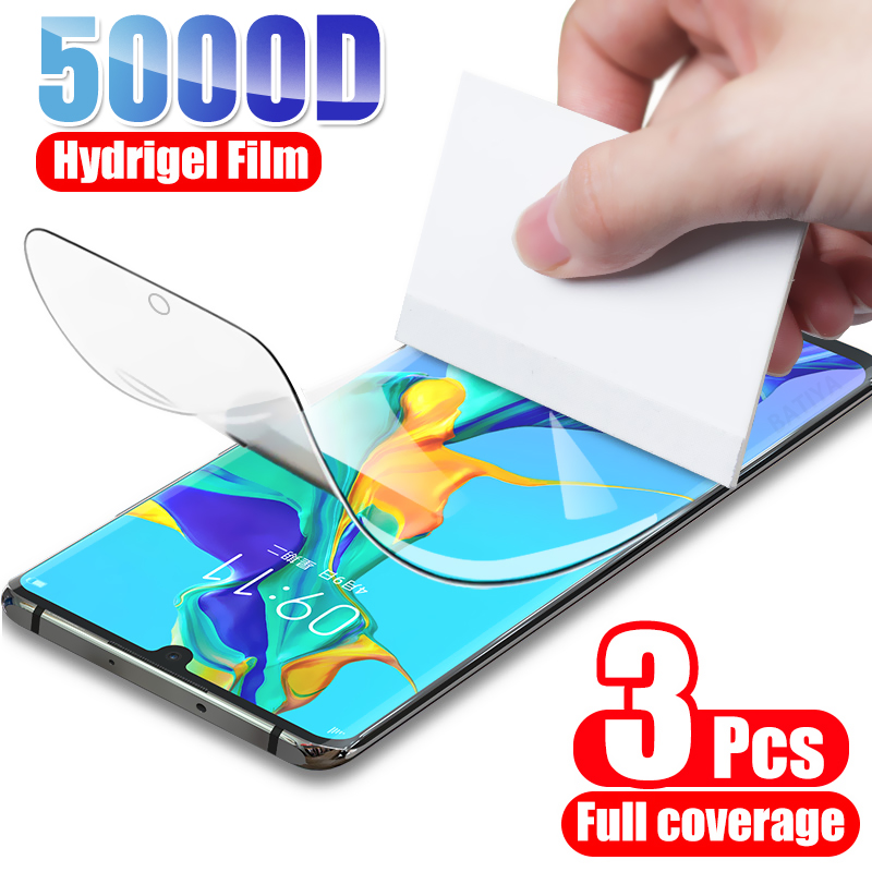 3PCS Hydrogel Film Screen Protector For Huawei P30 Pro P40 P20 Lite P10 Protective Film For Huawei M