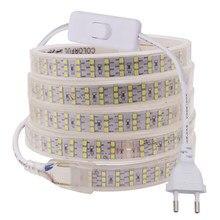 2835 led strip 220v 240v luz impermeável 276 leds/m três fileira led luz 120leds/m fita flexível led tira de luz alta qualidade