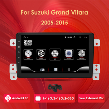 9 1080P HD Android 10 Car Radio For SUZUKI GRAND VITARA 2005-2015 Radio Audio Car GPS Multimedia Player 2DIN Dvd Player BT WIFI image