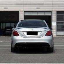 Becquet arrière en plastique ABS non peint et laqué pour Mercedes W205, Sedan C63 C43 style C180 C200 C260, becquet de 4 portes pour Benz W205