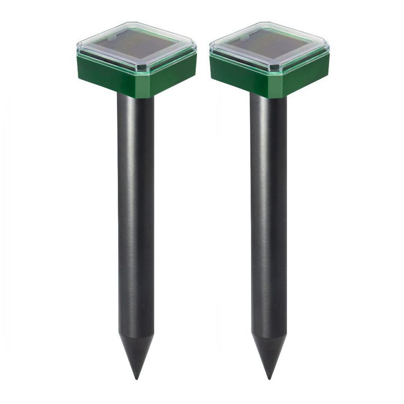 2 Pieces Solar Sonic Mole Repellent Vole Deterrent Chaser Spike