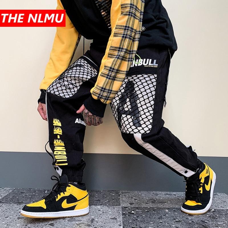 Reflective Design Cargo Harem Pants Mens Casual Jogger Streetwear Hip Hop 2019 Trousers Male Elastic Waist Joggers WG534