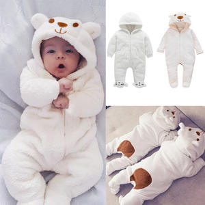 Footed Romper Jumpsuit Pajamas Crib Baby Clothes Toddler Girls Winter New Born Cartoon-Bear