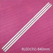 3 Pçs/set tira Retroiluminação LED para LG 43UH630V 43UH620V 43UH610T 43UH620V 43UH630V 43UH603V 6916L-2744A UHD 1 LC430DGE (FJ) (M2)