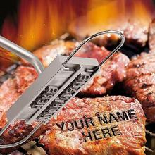 Bbq-Tongs Marking-Stamp Iron Steak-Meat Barbecue-Branding-Iron Hot DIY 2 Changeable-Letters