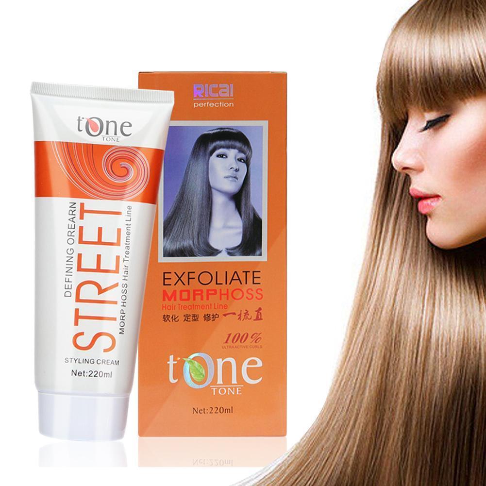 Natural Hair Relaxer Cream Salons Hair Moisturizing Fast Shiny Keratin Damage Straightening Hair Repair Hair Treatment Smoo D6K4