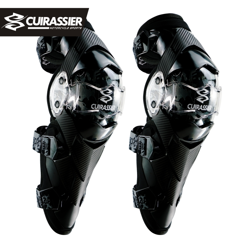 Cuirassier Motorcycle Knee Pad CE Motocross Knee Guards Motorcycle Protection Knee Motor-Racing Guards Safety Gears Race Brace