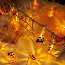 2 M 20 LED Pumpkin String Lights Halloween Party Decorations Battery Powered  Plastic Lighting Strings Holiday