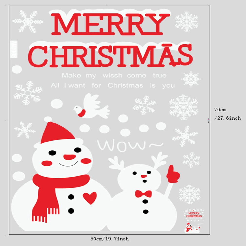 Creative Household Items Christmas Snowman Window Glazing Home Decorations
