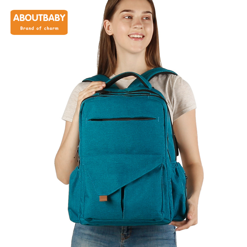 Mom And Baby Chu Xing Bao New Style Mummy Backpack Large Capacity Feature Mommy Bag Multi-pockets Compartmental Items