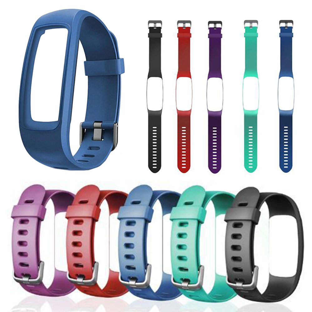 Multicolored Options Double Colors Replacement Wristband Silicone Watch Band Strap With Frame Case For ID107 Plus Smart Watch