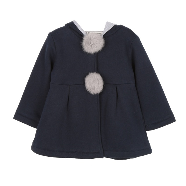 Baby Girls Coat Winter Spring Baby Girls Princess Coat Jacket Rabbit Ear Hoodie Casual Outerwear for girl Infants clothing 3