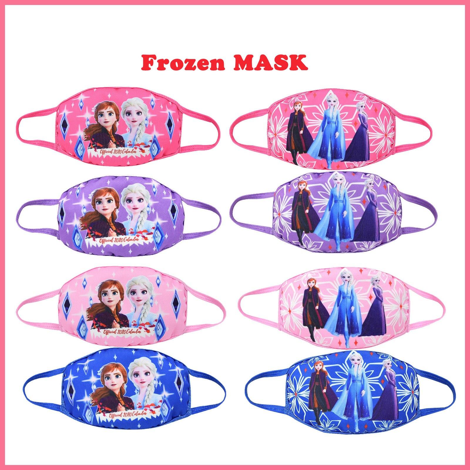 Original 2020 Frozen 2 Kids Cotton Masks Disney Princess Anna Elsa Anime Figures Face Mouth Protection Masks Gifts For Girls