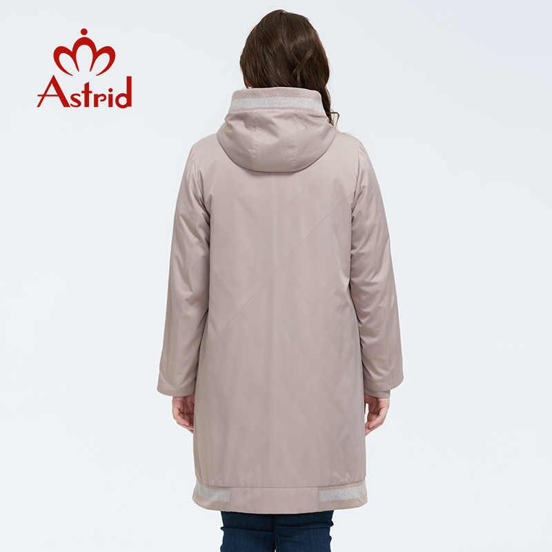 Astrid 2020 primavera nova chegada casaco feminino quente fino algodão solto roupas plus size casacos longos com zíper jaqueta feminina am-9375