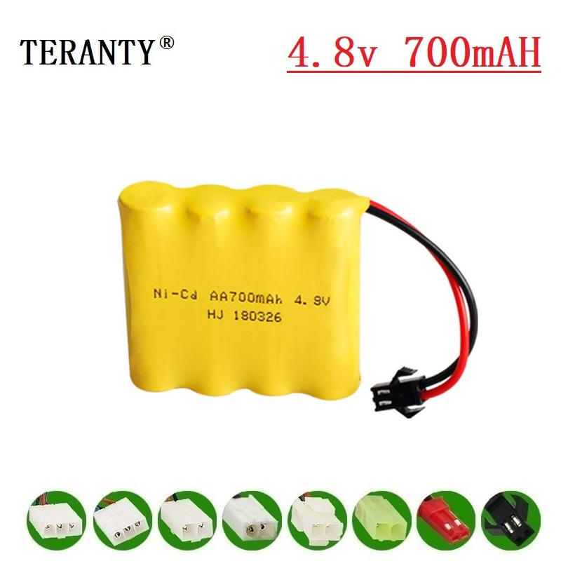 ( M Model ) 4.8v Ni-cd Battery For Rc Toys Cars Tanks Robots Boats Guns 700mah 4.8v Rechargeable Battery 4* AA Battery Pack 1Pcs