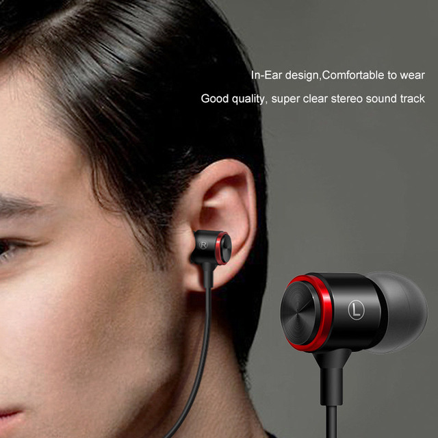 QTOBEI 3.5mm In Ear Earphones Bass Stereo Headset Running Earbuds Wired Headphones Sport Earphone For Xiaomi Redmi Note 5