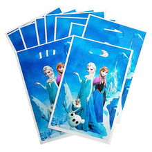 10pcs/set  Frozen Elsa And Anna Gift Bags With Handles Wedding Birthday Party Supplies Cookies Storage Bag