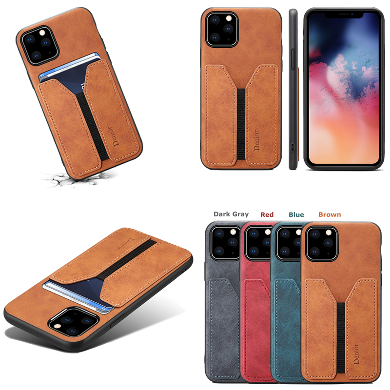Deluxe Leather Card Holder Case for iPhone 11/11 Pro/11 Pro Max