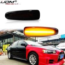 IJDM-Lámpara LED de señal de giro para coche, indicador lateral dinámico, para mistushi Outlander Sport Mirage Sport Lancer Evolution X