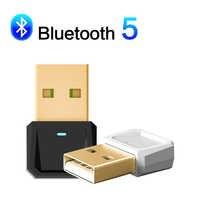 Adaptador USB Bluetooth 5,0, receptor transmisor de Bluetooth para ordenador portátil, teclado, impresora, receptor de enchufe y reproducción