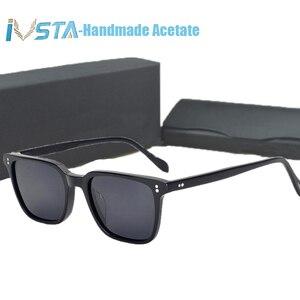 Image 5 - IVSTA OV 5031 z logo NDG 1 okulary octanowe mężczyźni oprawki optyczne recepta spolaryzowane okulary kwadratowe luksusowe marki Box krótkowzroczność