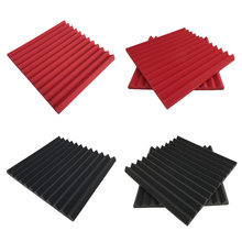 6pcs Studio Room Wall Wedge Tiles Antiflaming Sponge Sound-Absorbing For KTV Treatment Noise Soundproofing Foam Acoustic(China)