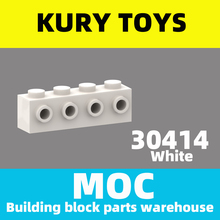 Building-Block-Parts Modified-Brick Kury-Toys MOC DIY for 30414 with 4-Studs on 1-Side