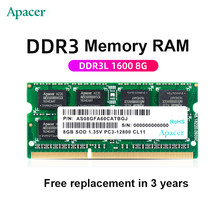 APACER 4GB / 8GB SODIMM DDR3L 1600 PC3L-12800 Notebook RAM - DDR3 L pamięć laptopa notebook RAM