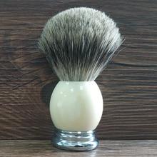 Shaving Brush 24mm Knot Pure Badger Hair Brush Resin Handle Hand Made Barber Beard Tools