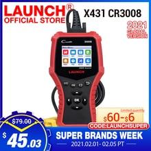 Lançamento x431 cr3008 obd2 scanner automotivo obdii leitor de código ferramenta de diagnóstico ferramenta teste tensão da bateria atualização gratuita pk kw850