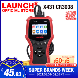 Image 1 - 起動 X431 CR3008 OBD2 自動車スキャナ OBDII コードリーダー診断ツールバッテリー電圧テストツール無料アップデート pk KW850