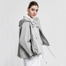 2020 Trench Coat Ladies Trench Coat Woman Trench Coat Women Windbreakers Plus Size Trench Coat Femme Coat cheap CN(Origin) Spring Autumn Full Canvas Casual Cotton Appliques Solid Regular Ages 18-35 Years Old Turn-down Collar Single Breasted